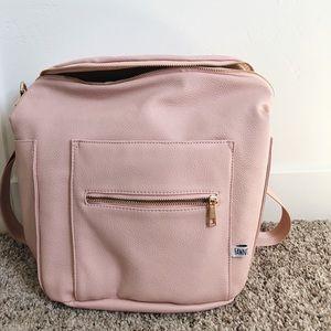 Handbags - Fawn Design Blush purse/ diaper bag backpack